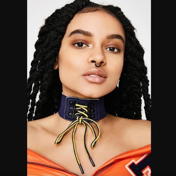 Puma Jewelry Fenty By Rihanna Navy Choker New In Box